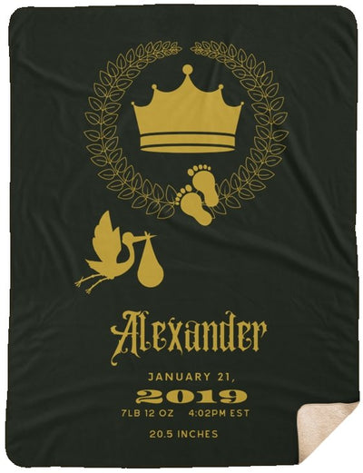 Blankets Gold Ink Personalized Mink Sherpa Blanket - Birthday - 5 colors - ZERO TO THREE CLUB Blankets