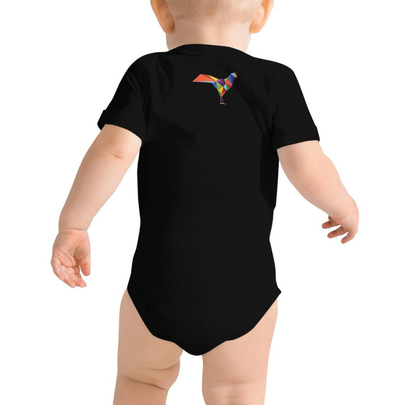 """Grafik Ruster"" - Short Sleeve Onesie - Softest Cotton - ZERO TO THREE CLUB"