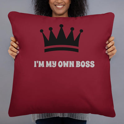 """I Obey No One"" on Burgundy - Two sided Print - Pillow Case with Insert - ZERO TO THREE CLUB"