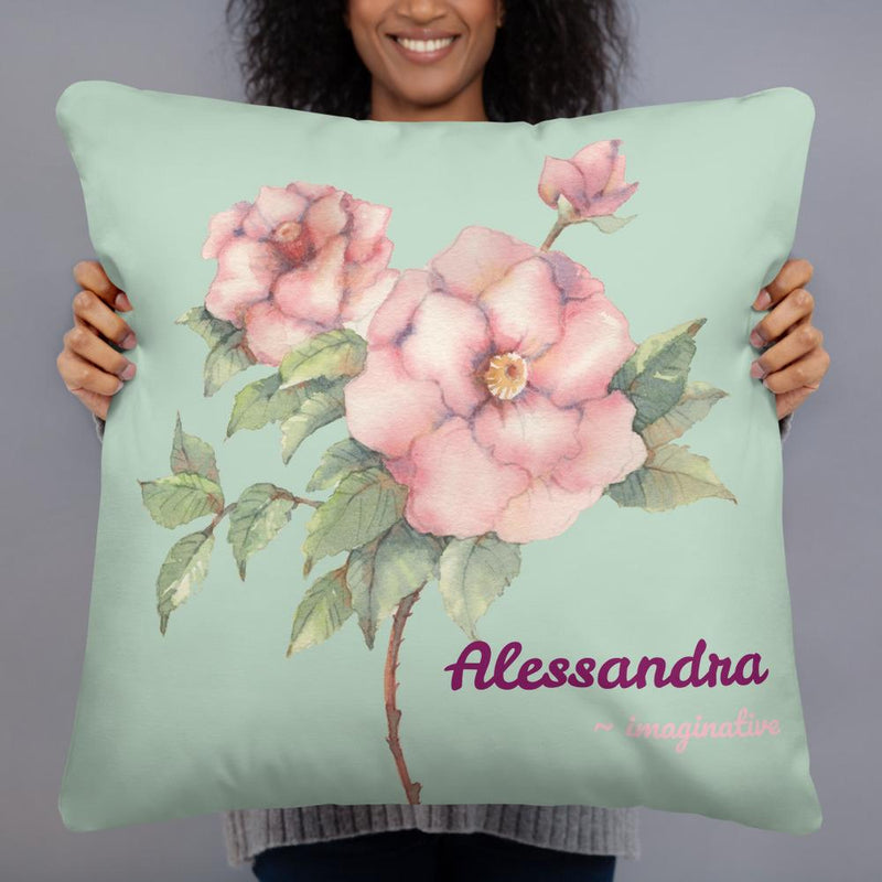 """Imaginative"" on Summer Green - Personalized - Two sided Print - Pillow Case with Insert - ZERO TO THREE CLUB"