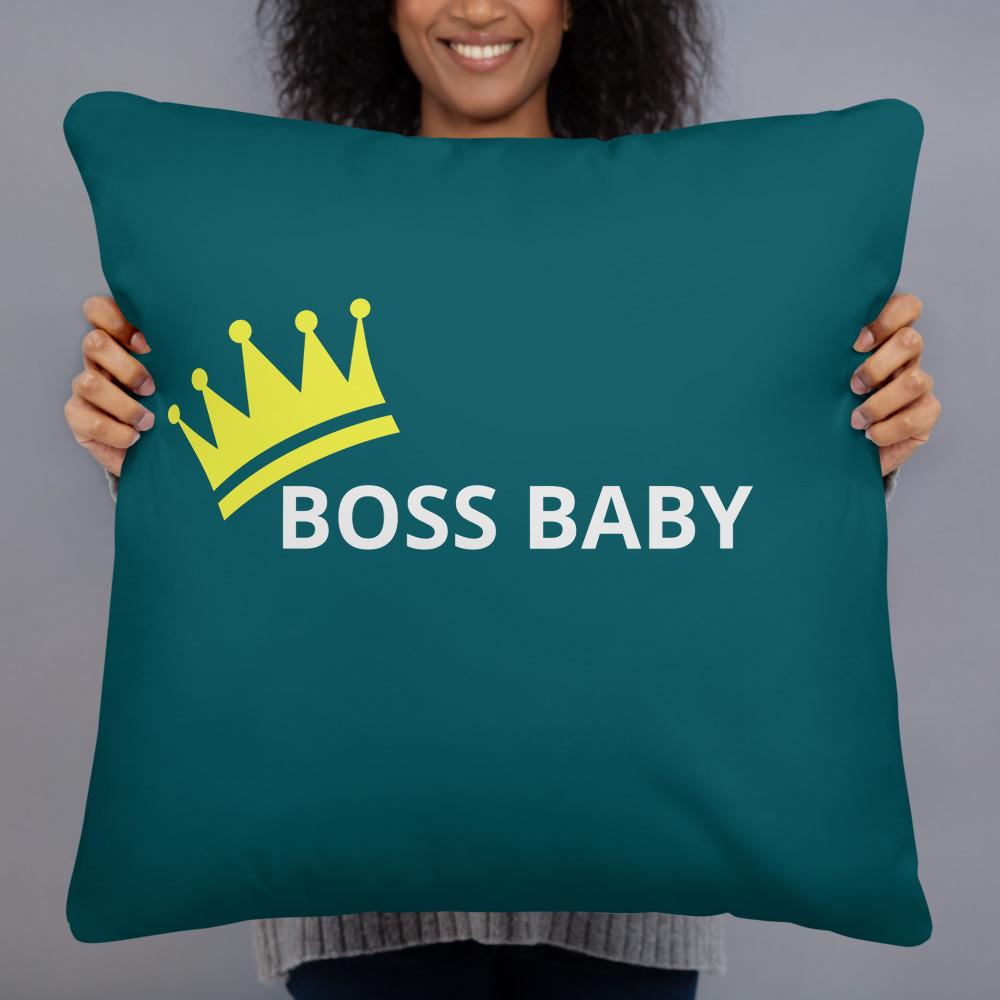 """Leader"" (aka Boss Baby) - Personalized - Two sided Print - Pillow Case with Insert - ZERO TO THREE CLUB"