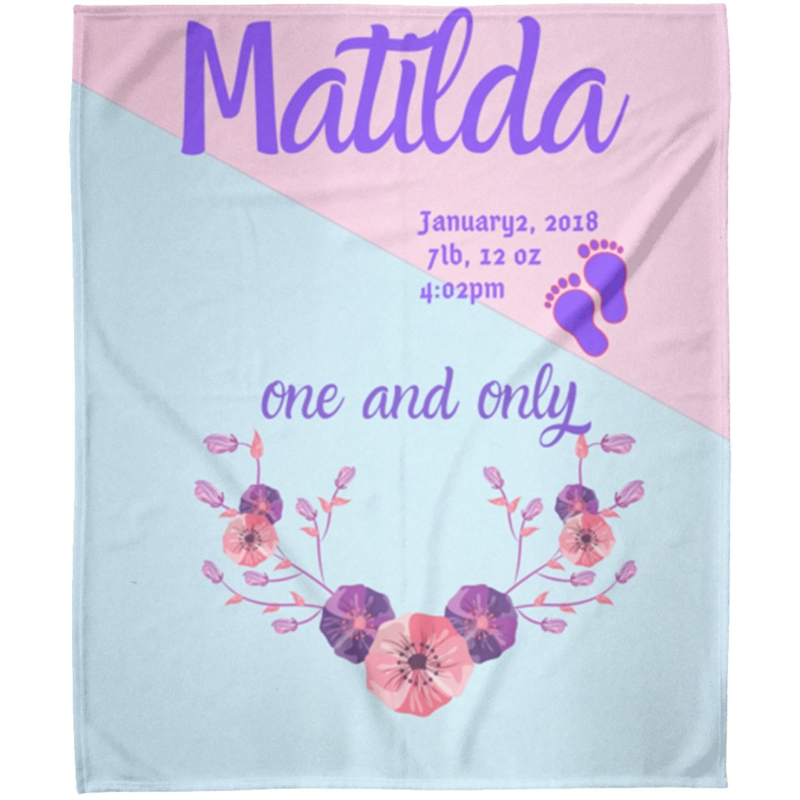 Blankets Matilda Personalized Premium Arctic Fleece Blanket - ZERO TO THREE CLUB Blankets