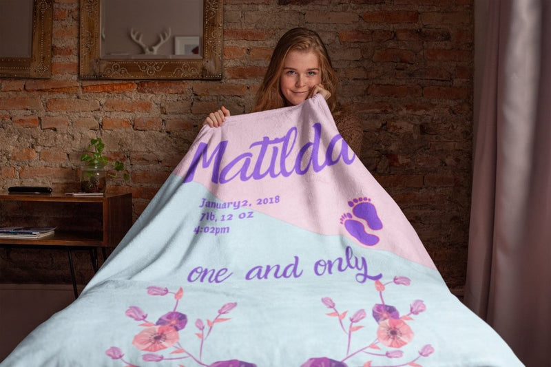 Blankets Matilda Personalized Premium Mink Sherpa Blanket - ZERO TO THREE CLUB Blankets