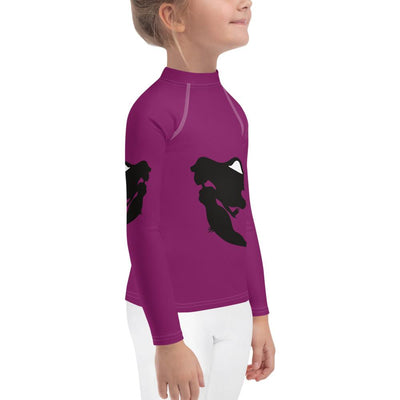Mermaids on Purple Long Sleeve Rash Guard - Mix and match with Leggings - ZERO TO THREE CLUB