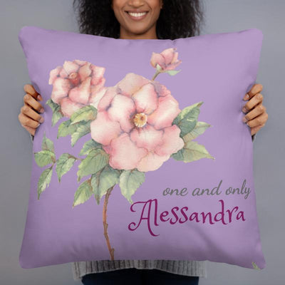 """One and Only"" on Lilac - Personalized - Two sided Print - Pillow Case with Insert - ZERO TO THREE CLUB"