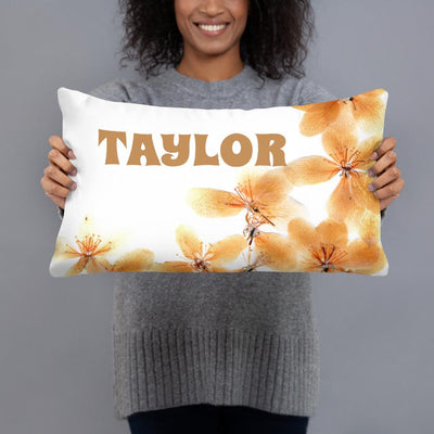 Orchids - Personalized - Two sided Print - Pillow Case with Insert - ZERO TO THREE CLUB