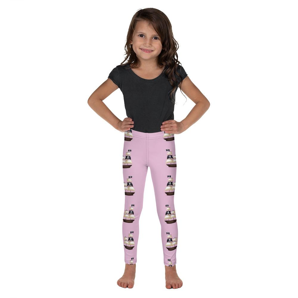 Pirate Ship on Pink Leggings - Mix and Match with Long Sleeve Top - ZERO TO THREE CLUB