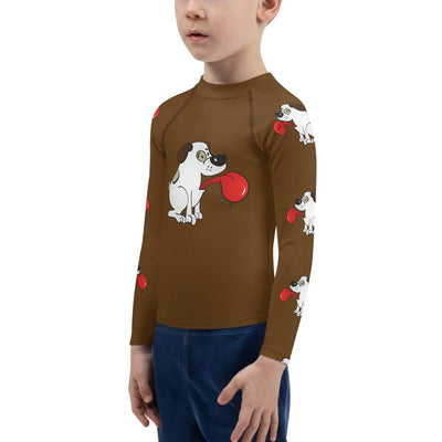 Puppy Love on Brown Long Sleeve Top - Mix and Match with Leggings - ZERO TO THREE CLUB