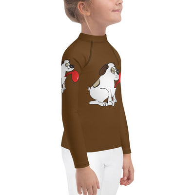 Puppy Love on Brown Long Sleeve Top - Mix and Match With Leggings (Girls) - ZERO TO THREE CLUB