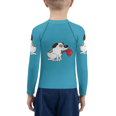 Puppy Love on Royal Blue Long Sleeve - Mix and Match with Leggings - ZERO TO THREE CLUB