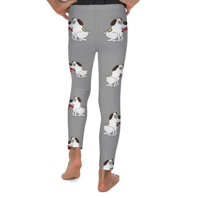 Puppy Love on Royal Grey Leggings Mix and Match with Long Sleeve Top (Boys) - ZERO TO THREE CLUB