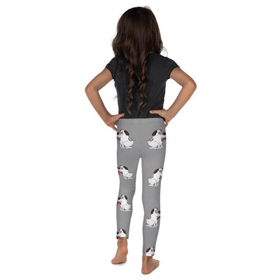 Puppy Love on Royal Grey Leggings Mix and Match with Long Sleeve Top (Girl) - ZERO TO THREE CLUB
