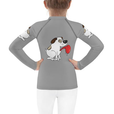 Puppy Love on Royal Grey Mix and Match Top with Leggings (Girls) - ZERO TO THREE CLUB