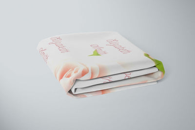 crib Rose Snow - Name - Personalized Fitted Crib Sheet - ZERO TO THREE CLUB crib