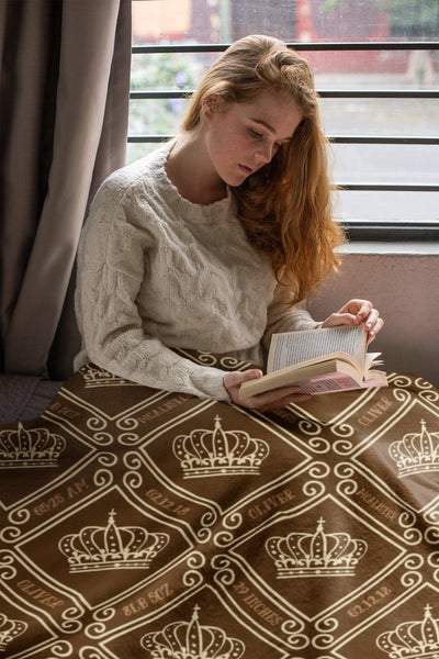 Blankets Royal Brown Personalized Arctic Fleece Blanket - ZERO TO THREE CLUB Blankets