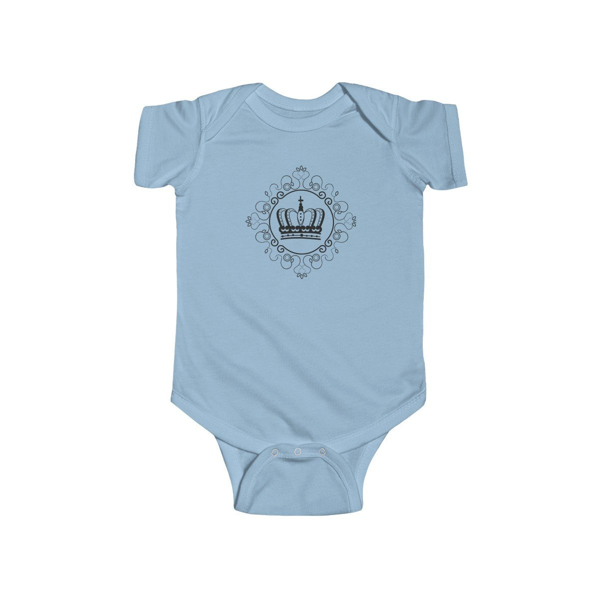 "Kids clothes ""Royal DNA"" Short Sleeve Infant Fine Jersey Bodysuit - ZERO TO THREE CLUB Kids clothes"