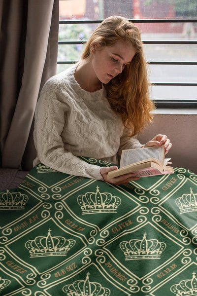 Blankets Royal Green -Personalized Arctic Fleece Blanket - ZERO TO THREE CLUB Blankets