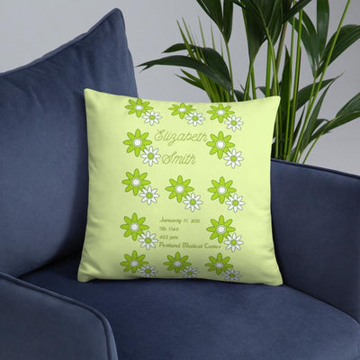 Spring - Personalized - Two sided Print - Pillow Case with Insert - ZERO TO THREE CLUB