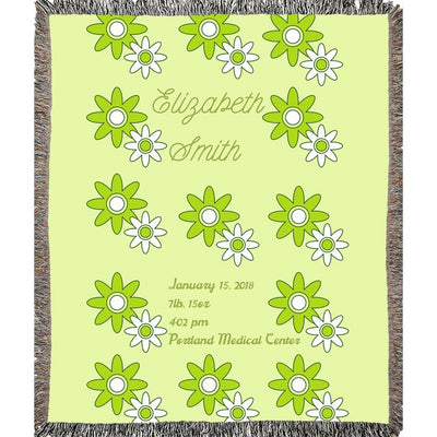 Blankets Spring  Woven Throw Blanket - Personalize and Customize - ZERO TO THREE CLUB Blankets