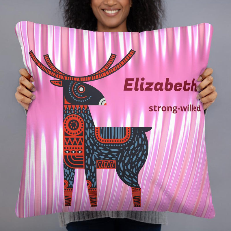 """Strong-Willed"" on Royal Pink - Personalized - Two sided Print - Pillow Case with Insert - ZERO TO THREE CLUB"