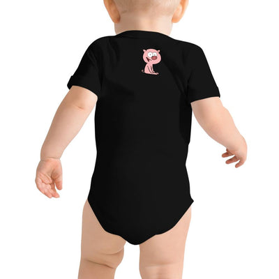 """This little piggy"" Short Sleeve Onesie - Softest Cotton - ZERO TO THREE CLUB"