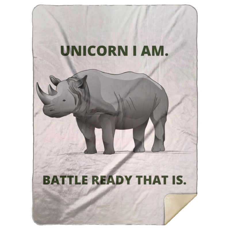 "Blankets ""Unicorn"" Premium Mink Sherpa Blanket - ZERO TO THREE CLUB Blankets"
