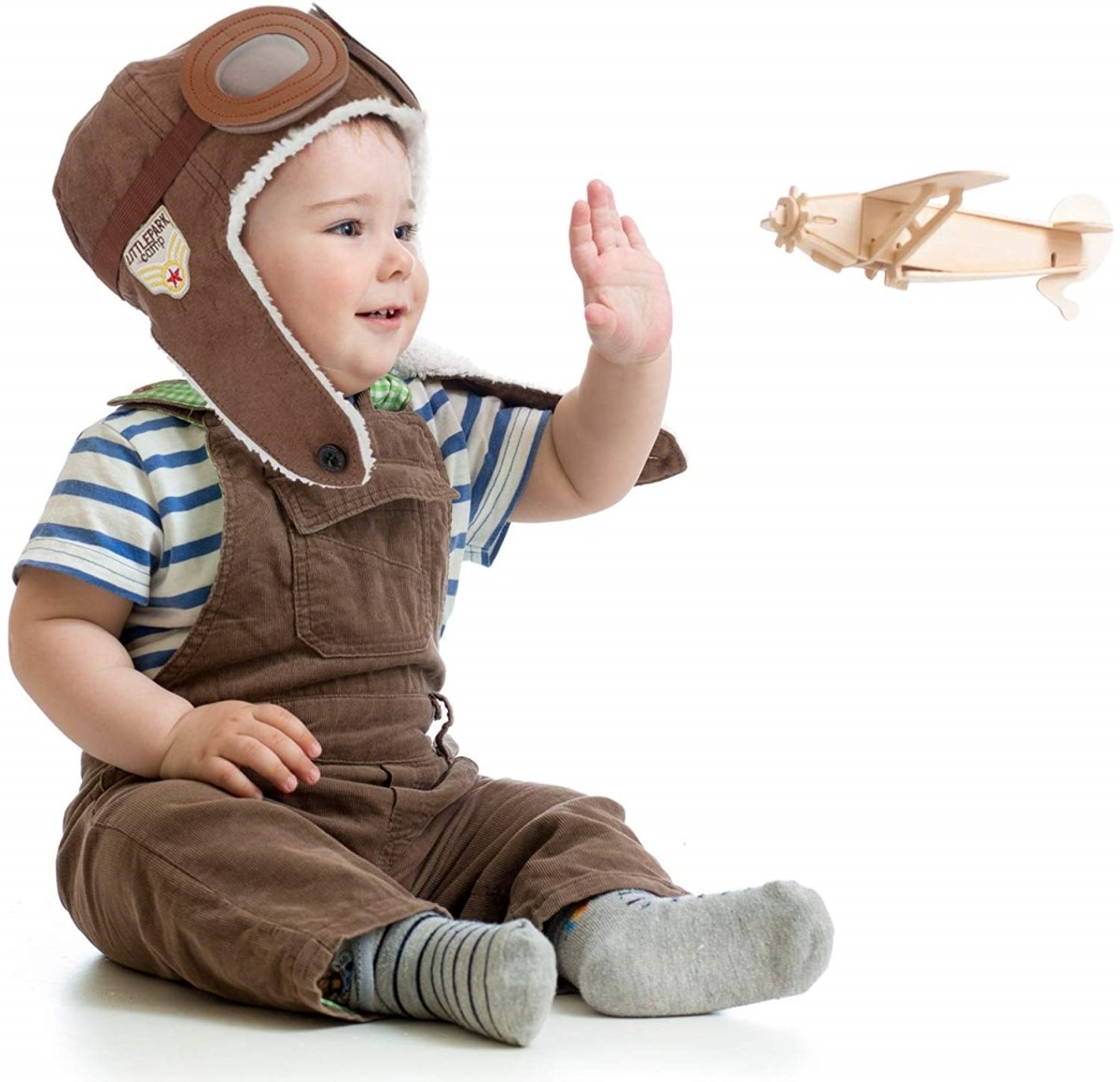 Unisex Warm Winter Pilot Aviator Kids Hat with attached Goggles - ZERO TO THREE CLUB Unpublished