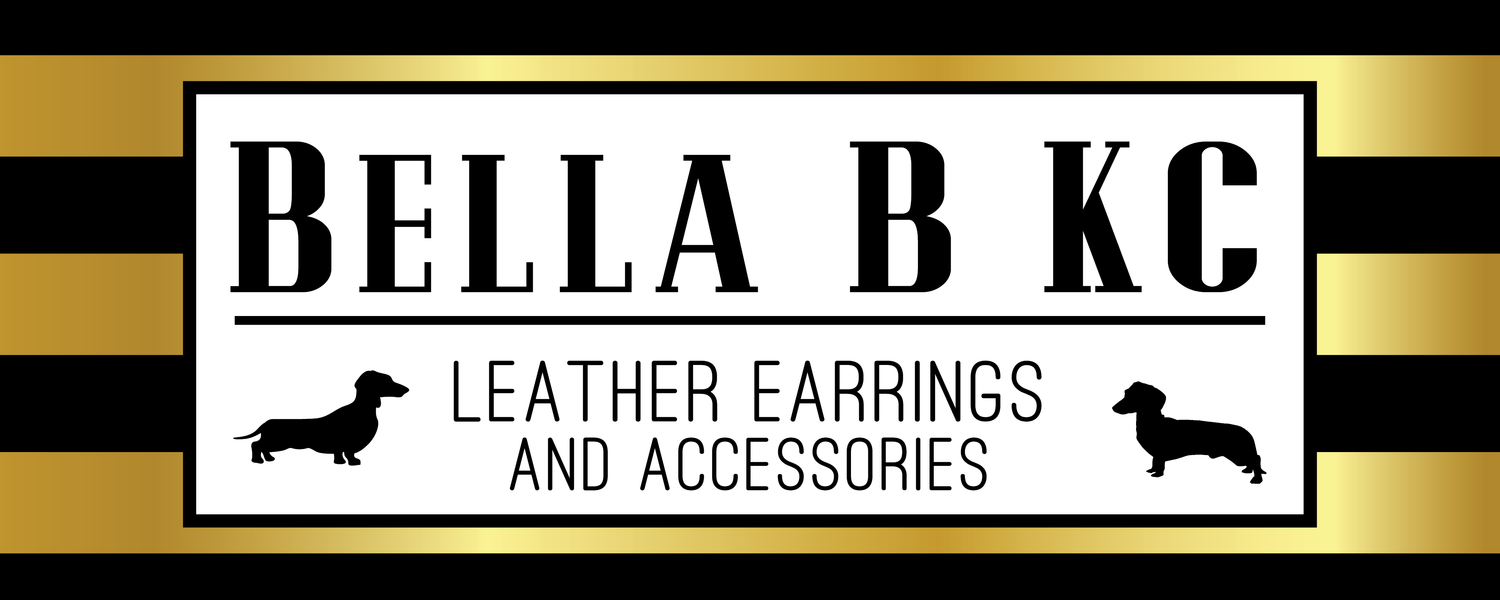 Bella B KC Leather Earrings