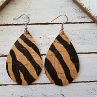 FAUX Cork Zebra on Natural