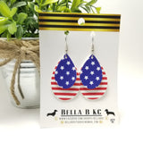 FAUX Americana Patriotic Stars Stripes 4th of July