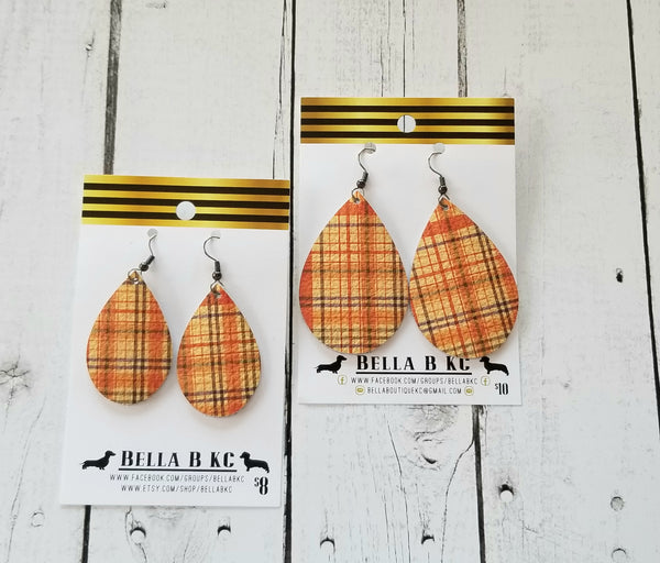 GENUINE Plaid Orange Tartan