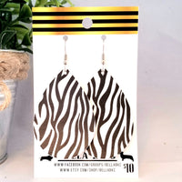 FAUX Animal Print Zebra Black and White