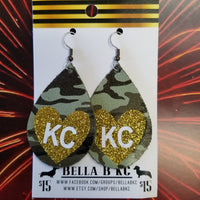 GENUINE Sports Kansas City Camo Gold Heart