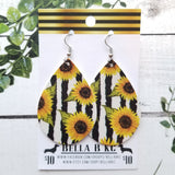 FAUX Floral Sunflowers with Stripes