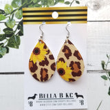 FAUX Floral Sunflowers with Cheetah Print