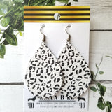 GENUINE Animal Print Black and White Leopard