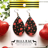 GENUINE Valentine Red Hearts and Lady Bugs Black