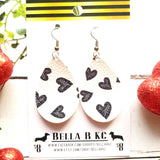FAUX Valentine Black and White Hearts