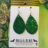 FAUX St. Patrick's Day Green Metallic Nugget