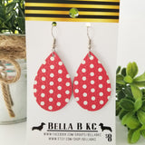 GENUINE Red with White Polka Dots