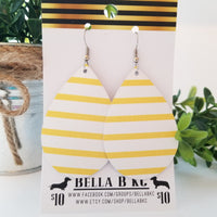 GENUINE Yellow White Striped