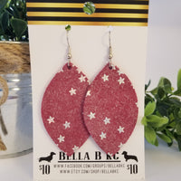 GENUINE Dark Pink Silver Stars