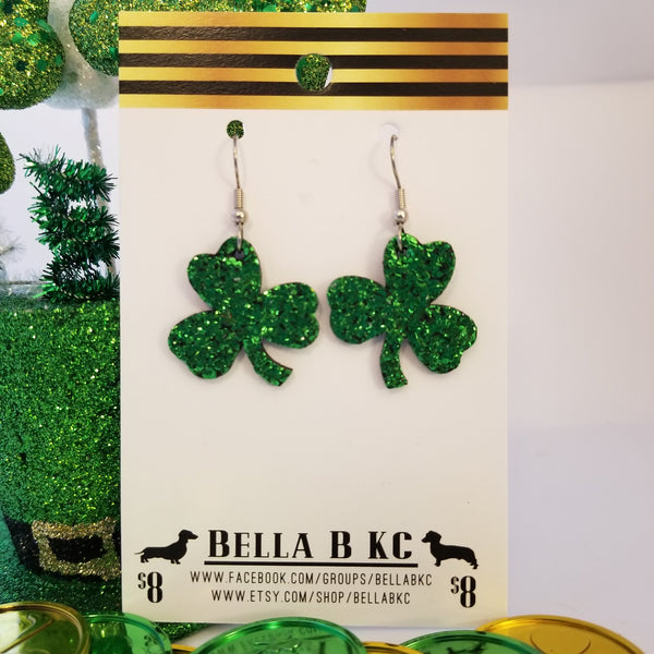 Genuine Glitter St. Patrick's Day Green Shamrock