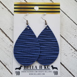 GENUINE Navy Blue Palm Leaf