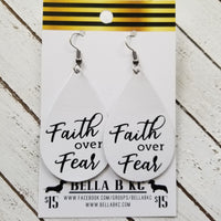 GENUINE Faith over Fear on White Leather