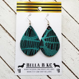 GENUINE Black and Teal Spider Web