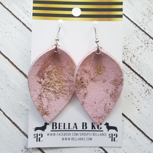 GENUINE Pinched Petal Pink with Rose Gold Metallic Splash