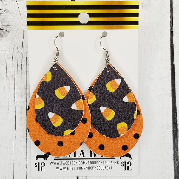 FAUX Halloween Candy Corn Double