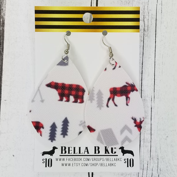 FAUX Christmas Buffalo Plaid Buck Deer