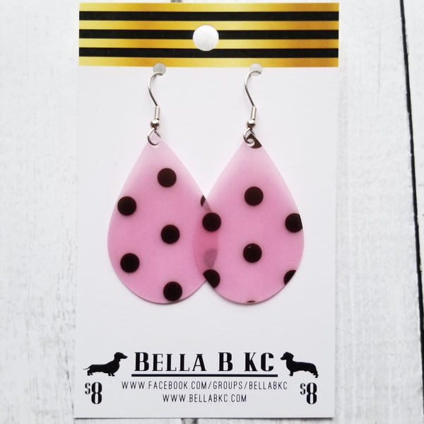 JELLY Black Polka Dots on Pink